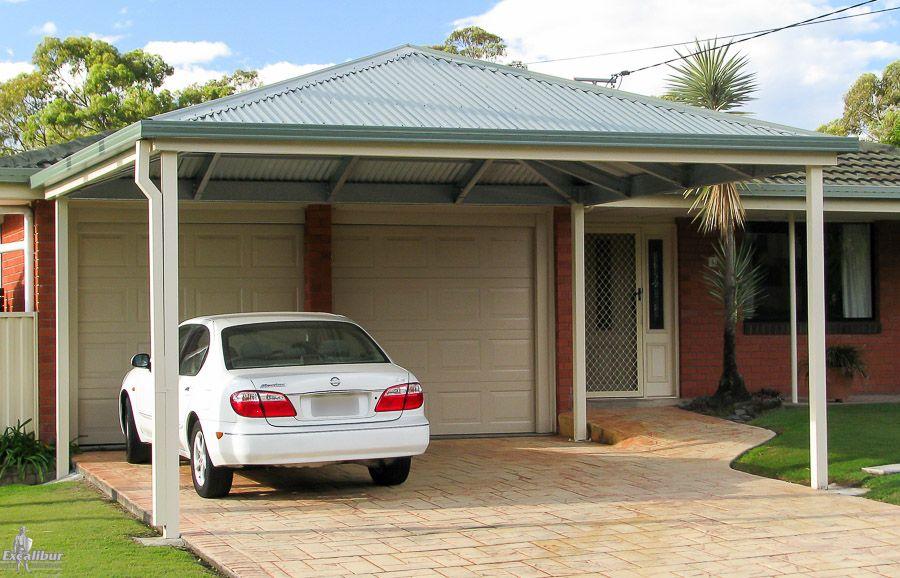 5.5m x 5.5m Hip Roof Carport 2