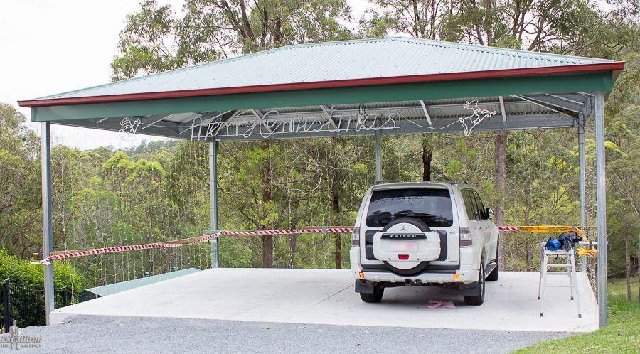 Carport kits diy carports for sale australia wide for Hip roof carport plans