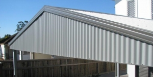Gable Carports in Brisbane complete with infills and made from steel manufactured in Queensland.