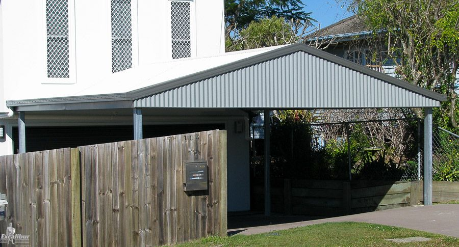 Gable carport excalibur carports carport kits for Gable roof carport