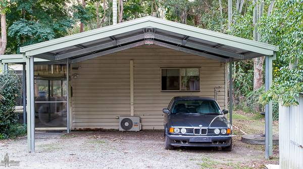 Gable Double Carport with Open Ends