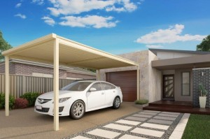 Skillion Single Carport