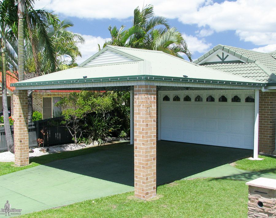 dutch gable double carport 5