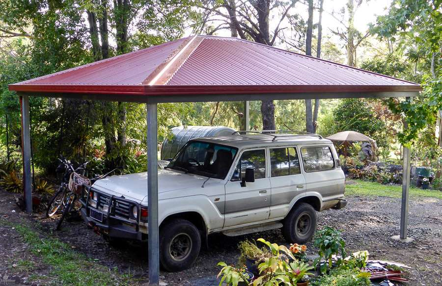 Hip Roof Carport DIY