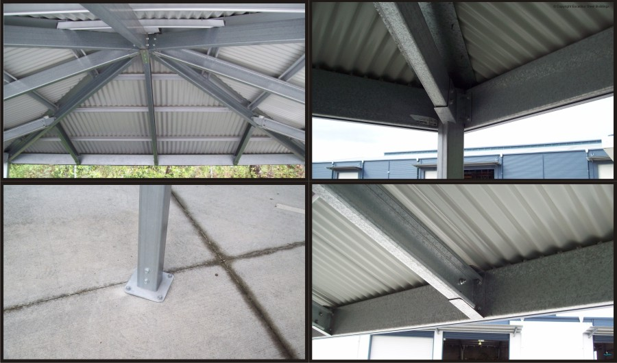Hip roof carport diy kits for sale genuine colorbond for Roof framing cost