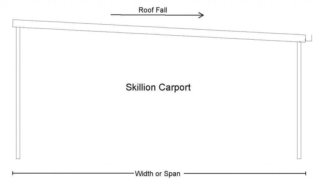 Skillion Carport Roof Fall