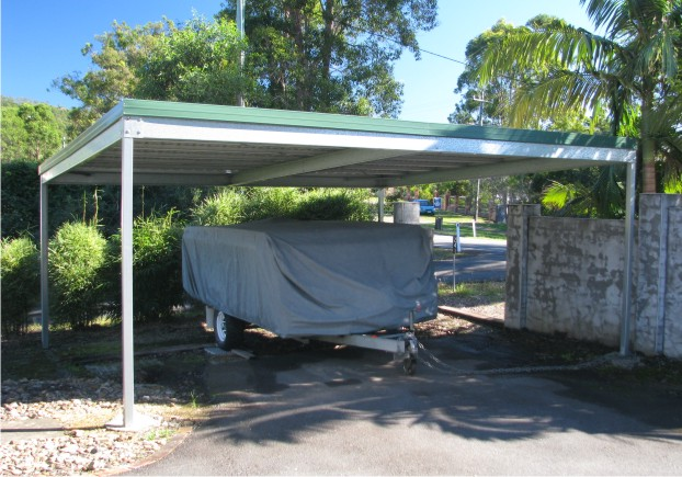 Skillion carport quality steel skillion carport kits for Double car carport