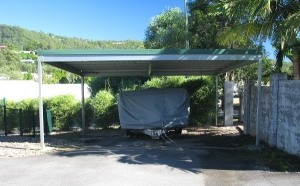 Double Carport Kit with Skillion or Flat Roof
