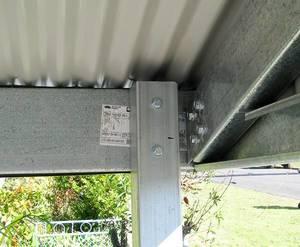 Steel Post to Carport Frame